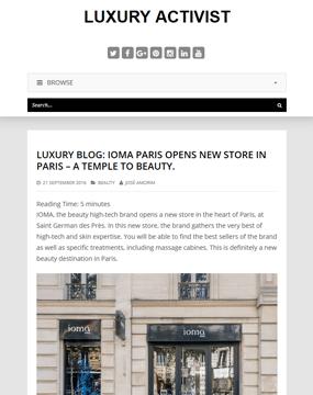 160921_Boutique IOMA_Luxury activist_pagedegarde